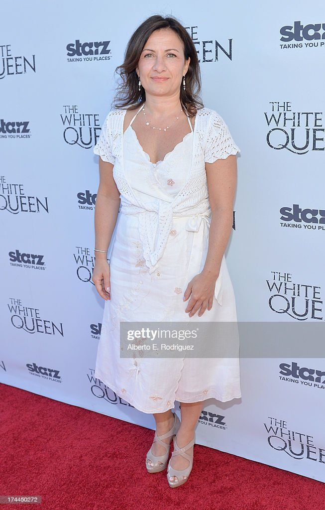 Screenwriter Emma Frost attends The Brittish Consulate's toast of the U.S. launch of the Starz original series 'The White Queen' on July 25, 2013 in Los Angeles, California.