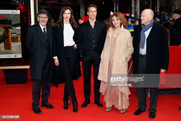 Screenwriter Eugene Ruge and actors Natalia Belitski Alexander Fehling Evgenia Dodina and screenwriter Wolfgang Kohlhaase attend the 'In Times of...