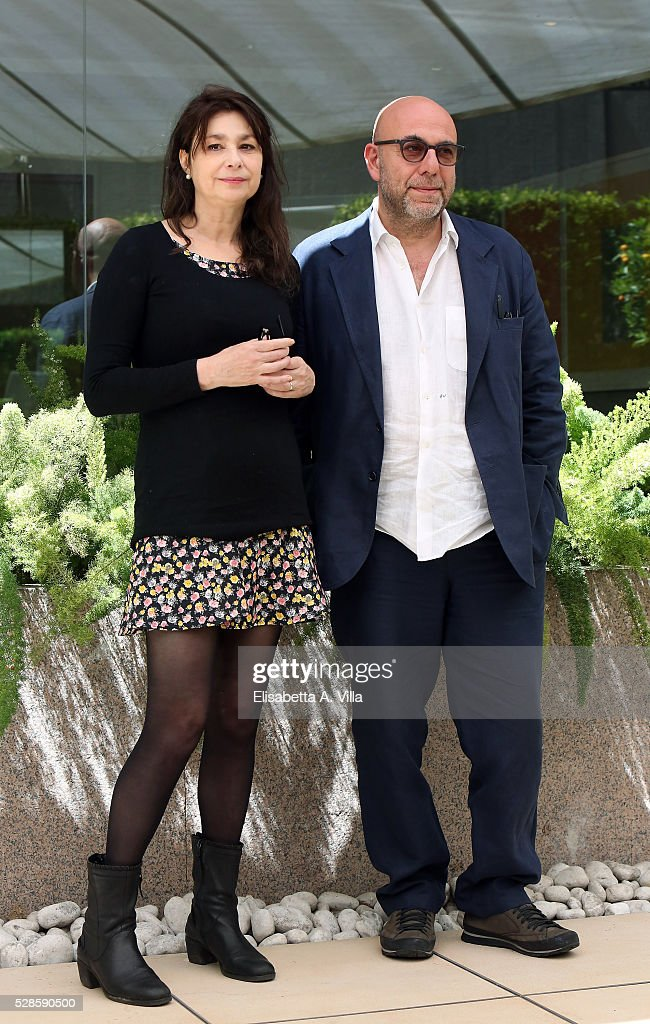 Screenwriter Francesca Archibugi and director <a gi-track='captionPersonalityLinkClicked' href=/galleries/search?phrase=Paolo+Virzi&family=editorial&specificpeople=3021843 ng-click='$event.stopPropagation()'>Paolo Virzi</a> attend a photocall for 'La Pazza Gioia' at Visconti Palace Hotel on May 6, 2016 in Rome, Italy.