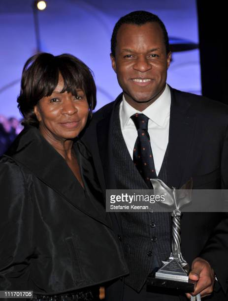 COVERAGE** Screenwriter Geoffrey Fletcher and guest attend the ELLE Green Room at the 25th Film Independent Spirit Awards held at Nokia Theatre LA...