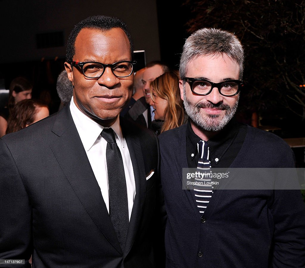Screenwriter <a gi-track='captionPersonalityLinkClicked' href=/galleries/search?phrase=Geoffrey+Fletcher&family=editorial&specificpeople=5856798 ng-click='$event.stopPropagation()'>Geoffrey Fletcher</a> and writer/director Alex Kurtzman attend the after party for the Cinema Society with Linda Wells & Allure screening of DreamWorks Studios' 'People Like Us' at Hotel Americano on June 25, 2012 in New York City.