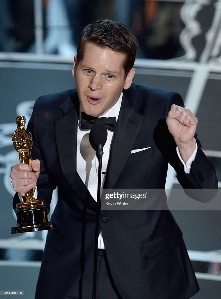Screenwriter Graham Moore accepts the Best Adapted Screenplay Award for 'The Imitation Game' onstage during the 87th Annual Academy Awards at Dolby...