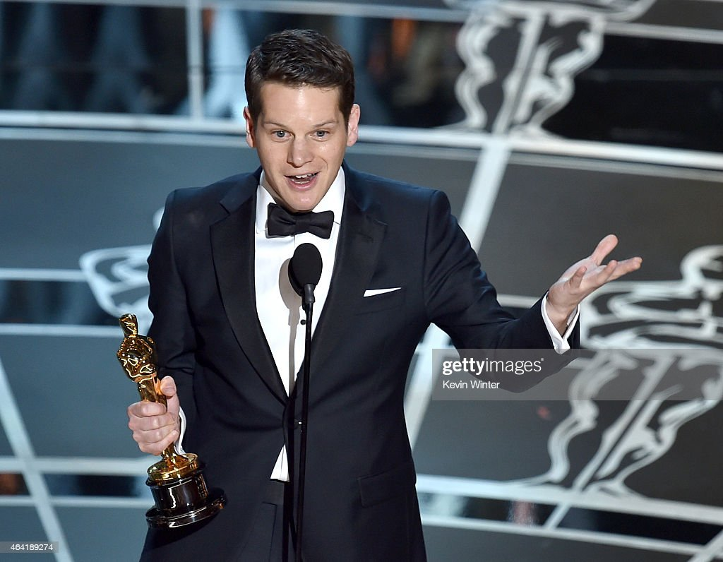 Screenwriter Graham Moore accepts the Best Adapted Screenplay Award for 'The Imitation Game' onstage during the 87th Annual Academy Awards at Dolby Theatre on February 22, 2015 in Hollywood, California.
