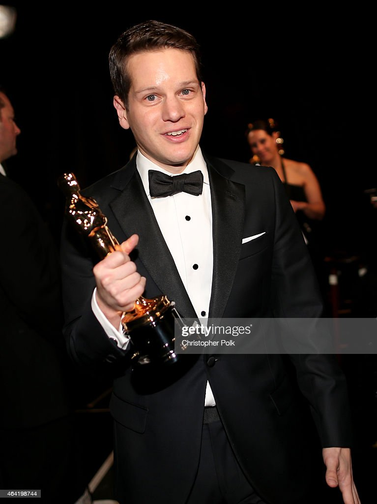 Screenwriter Graham Moore winner of the Best Adapted Screenplay Award for 'The Imitation Game' attends the 87th Annual Academy Awards at Dolby...