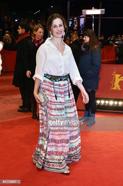 Screenwriter Iulia Lumanare attends the 'Ana mon amour' premiere during the 67th Berlinale International Film Festival Berlin at Berlinale Palace on...