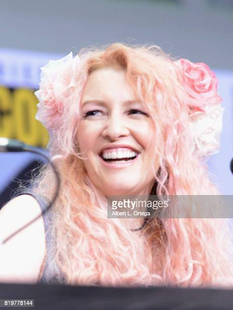 Screenwriter Jane Goldman speaks onstage at the 20th Century FOX panel during ComicCon International 2017 at San Diego Convention Center on July 20...
