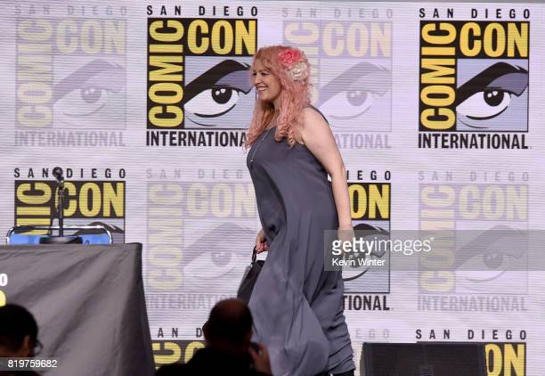 Screenwriter Jane Goldman walks onstage at the 20th Century FOX panel during ComicCon International 2017 at San Diego Convention Center on July 20...