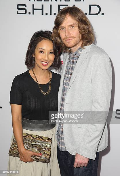 Screenwriter Jed Whedon and producer Maurissa Tancharoen attend the premiere of Marvel's 'Agents of SHIELD' at Pacific Theatre at The Grove on...