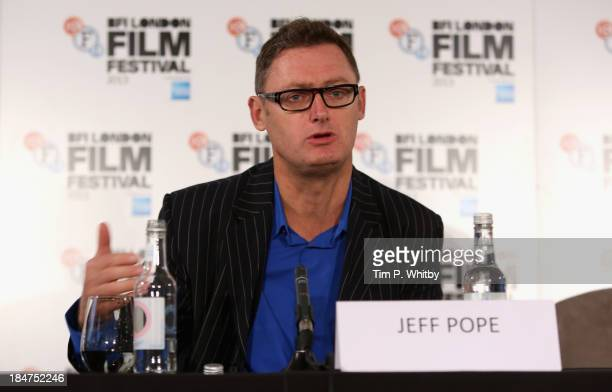Screenwriter Jeff Pope attends the 'Philomena' press conference during the 57th BFI London Film Festival at Claridges Hotel on October 16 2013 in...
