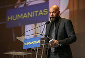 Screenwriter John Ridley accepts the Kieser Award onstage during the 41st Humanitas Prize Awards Ceremony at Directors Guild Of America on February...