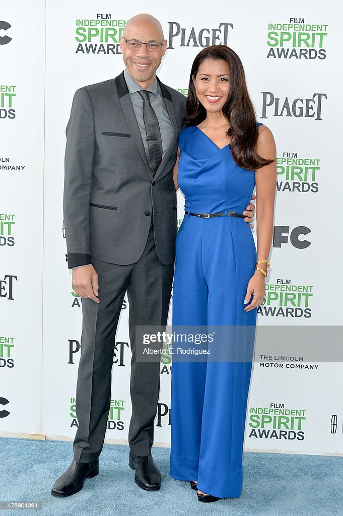 Screenwriter John Ridley (L) and Gayle Ridley attend the 2014 Film Independent Spirit Awards at Santa Monica Beach on March 1, 2014 in Santa Monica, California.