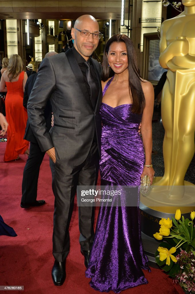 Screenwriter <a gi-track='captionPersonalityLinkClicked' href=/galleries/search?phrase=John+Ridley&family=editorial&specificpeople=2310489 ng-click='$event.stopPropagation()'>John Ridley</a> (L) and wife Gayle Ridley attend the Oscars held at Hollywood & Highland Center on March 2, 2014 in Hollywood, California.