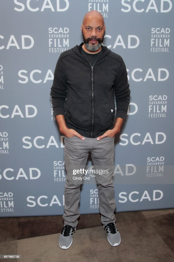 Screenwriter John Ridley poses backstage at Docs To Watch panel during the 20th Anniversary SCAD Savannah Film Festival on October 29, 2017 in Savannah, Georgia.