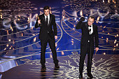 Screenwriter Josh Singer and screenwriterdirector Tom McCarthy accept the Best Original Screenplay award for 'Spotlight' onstage during the 88th...