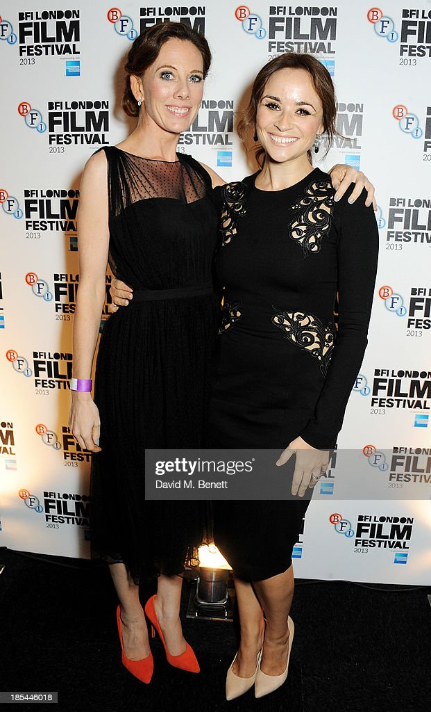Screenwriter Kelly Marcel (L) and Emma Pierson attend an after party for the Closing Night Gala European Premiere of 'Saving Mr Banks' during the 57th BFI London Film Festival at The Old Billingsgate on October 20, 2013 in London, England.