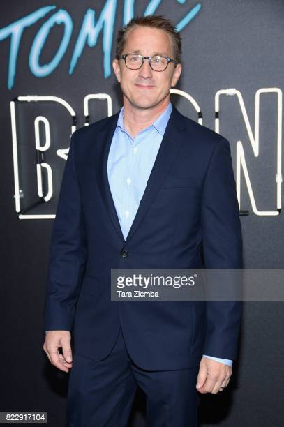 Screenwriter Kurt Johnstad attends the premiere of Focus Features' 'Atomic Blonde' at The Theatre at Ace Hotel on July 24 2017 in Los Angeles...