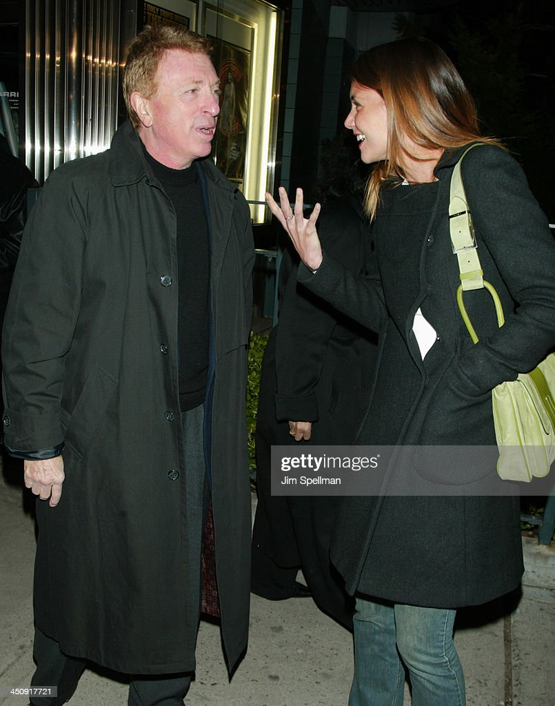 Screenwriter Larry Cohen and Katie Holmes during Special New York Screening of Phone Booth Hosted by Interview Outside Arrivals at Clearview Chelsea...