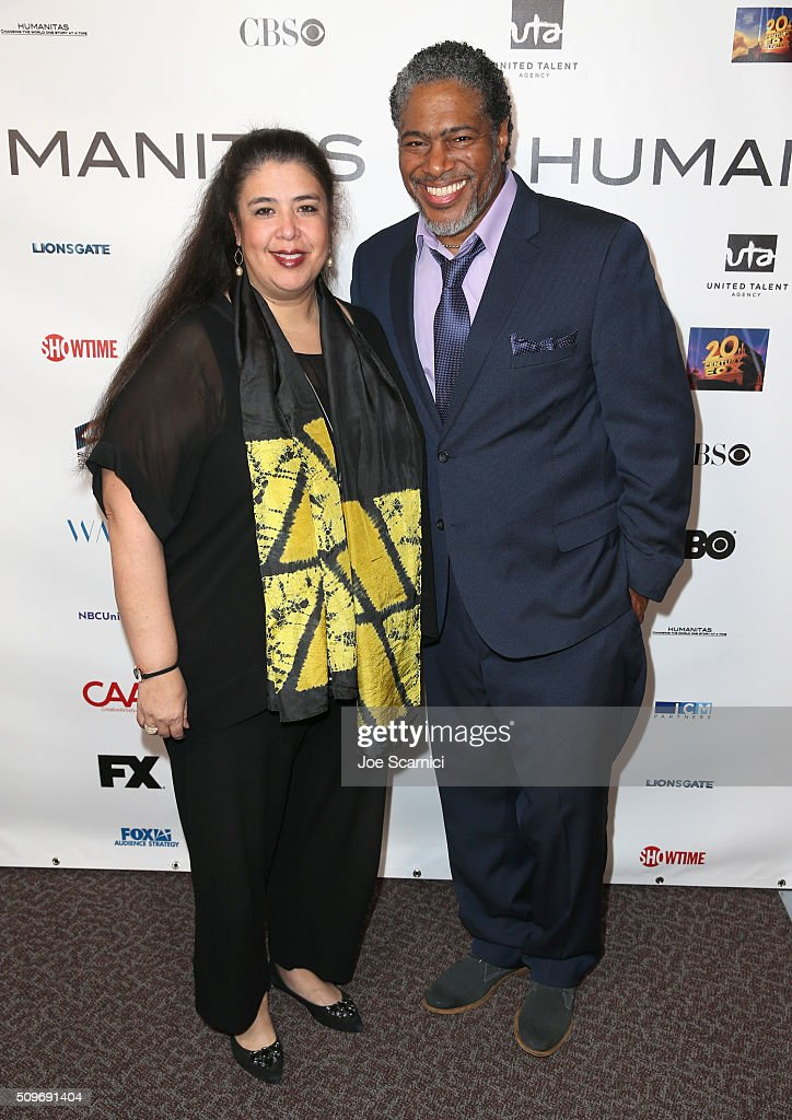 Screenwriter Ligiah Villalobos (L) and President of the Humanitas Awards Ali LeRoi attend the 41st Humanitas Prize Awards Ceremony at Directors Guild Of America on February 11, 2016 in Los Angeles, California.