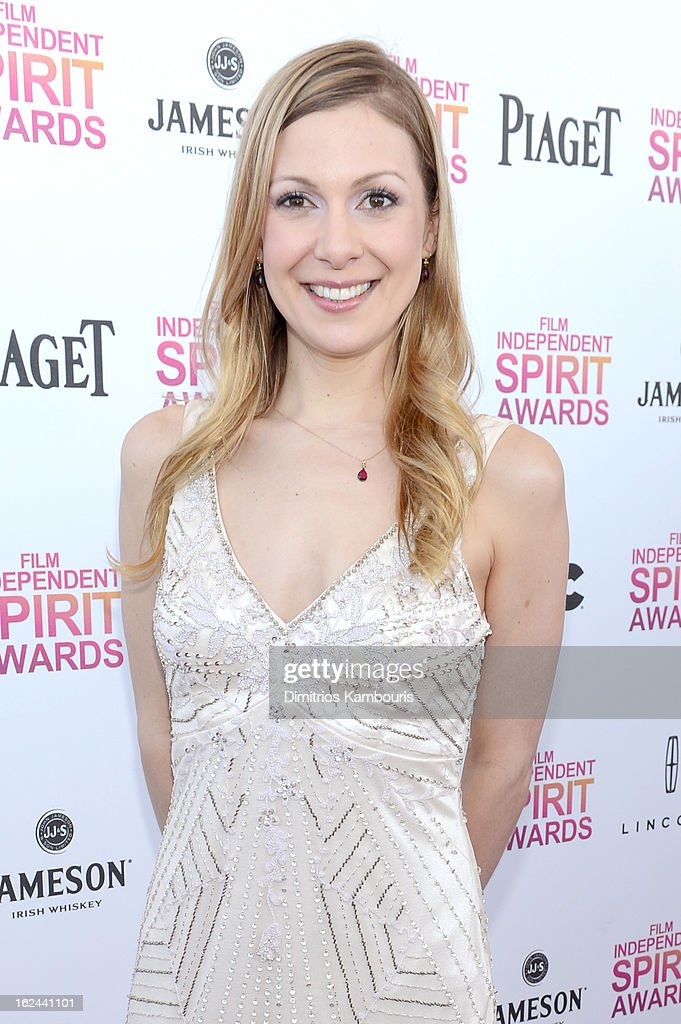 Screenwriter Lucy Alibar arrives with Jameson prior to the 2013 Film Independent Spirit Awards at Santa Monica Beach on February 23 2013 in Santa...