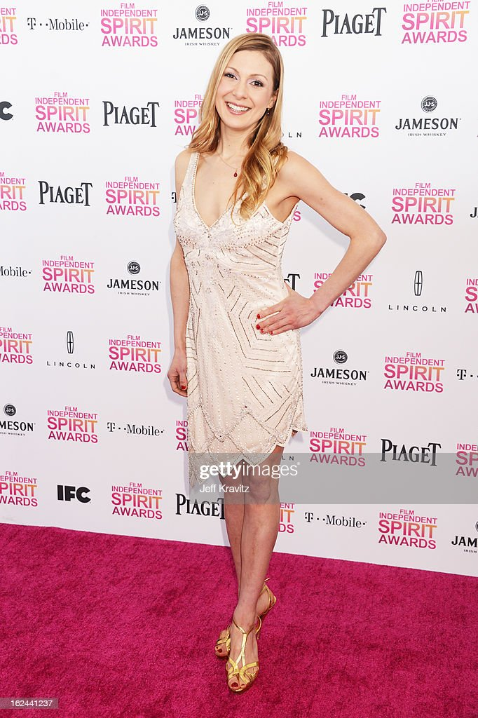Screenwriter Lucy Alibar attends the 2013 Film Independent Spirit Awards at Santa Monica Beach on February 23 2013 in Santa Monica California