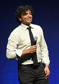 Screenwriter M Night Shyamalan speaks onstage during Universal Pictures Invites You to an Exclusive Product Presentation Highlighting its Summer of...