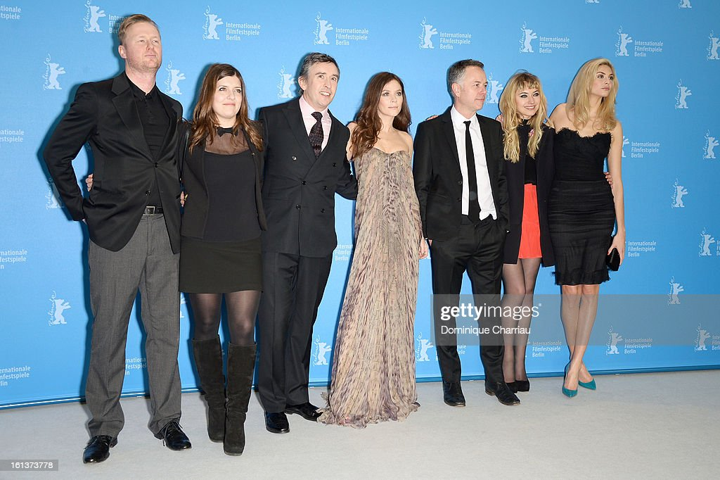 Screenwriter Matt Greenhalgh, producer Melissa Parmenter, actors <a gi-track='captionPersonalityLinkClicked' href=/galleries/search?phrase=Steve+Coogan&family=editorial&specificpeople=204648 ng-click='$event.stopPropagation()'>Steve Coogan</a>, <a gi-track='captionPersonalityLinkClicked' href=/galleries/search?phrase=Anna+Friel&family=editorial&specificpeople=202225 ng-click='$event.stopPropagation()'>Anna Friel</a>, director <a gi-track='captionPersonalityLinkClicked' href=/galleries/search?phrase=Michael+Winterbottom&family=editorial&specificpeople=220190 ng-click='$event.stopPropagation()'>Michael Winterbottom</a> and actresses <a gi-track='captionPersonalityLinkClicked' href=/galleries/search?phrase=Imogen+Poots&family=editorial&specificpeople=4265532 ng-click='$event.stopPropagation()'>Imogen Poots</a> and <a gi-track='captionPersonalityLinkClicked' href=/galleries/search?phrase=Tamsin+Egerton&family=editorial&specificpeople=2118936 ng-click='$event.stopPropagation()'>Tamsin Egerton</a> attend 'The Look Of Love' Photocall during the 63rd Berlinale International Film Festival at Grand Hyatt Hotel on February 10, 2013 in Berlin, Germany.