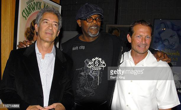 Screenwriter Michael Bortman actor Samuel L Jackson and Yari Film's Dennis Brown attend the 'Resurrecting the Champ' after party held at the Academy...