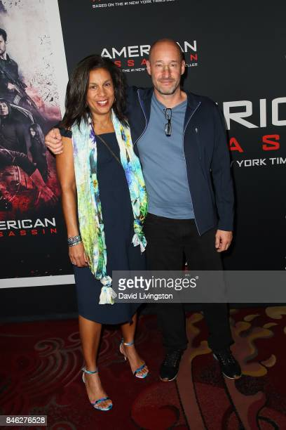 Screenwriter Michael Finch and guest attend a Screening of CBS Films and Lionsgate's 'American Assassin' at TCL Chinese Theatre on September 12 2017...