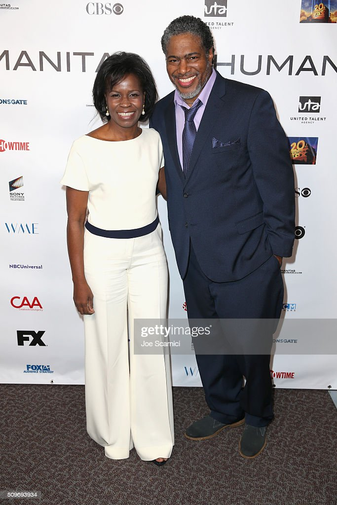 Screenwriter Misan Sagay and President of the Humanitas Awards Ali LeRoi attend the 41st Humanitas Prize Awards Ceremony at Directors Guild Of America on February 11, 2016 in Los Angeles, California.