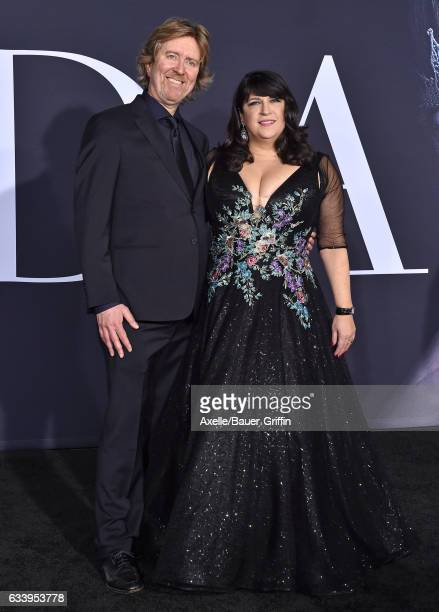 Screenwriter Niall Leonard and author E L James arrive at the premiere of Universal Pictures' 'Fifty Shades Darker' at The Theatre at Ace Hotel on...