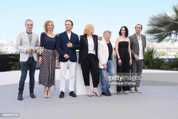 Screenwriter Olivier Assayas writer Delphine de Vigan actor Vincent Perez actress Emmanuelle Seigner director Roman Polanski actress Eva Green and...