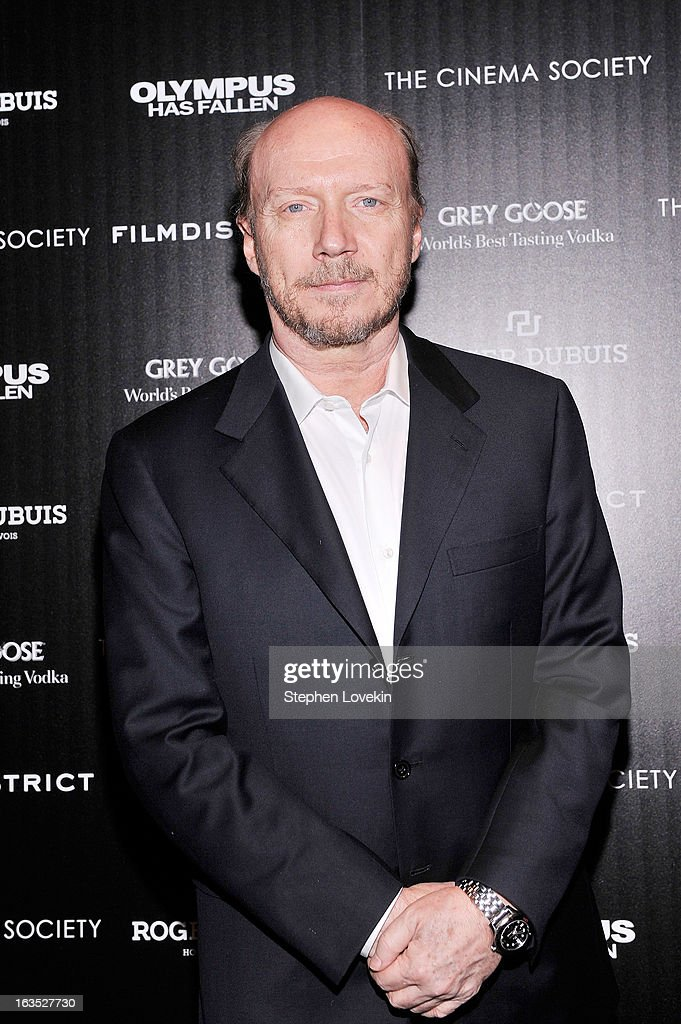 Screenwriter Paul Haggis attends The Cinema Society with Roger Dubuis and Grey Goose screening of FilmDistrict's 'Olympus Has Fallen' at Tribeca Grand Hotel on March 11, 2013 in New York City.