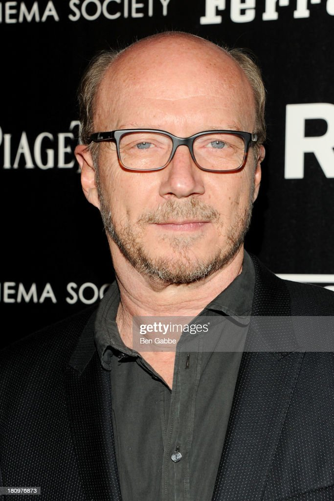 Screenwriter <a gi-track='captionPersonalityLinkClicked' href=/galleries/search?phrase=Paul+Haggis&family=editorial&specificpeople=213967 ng-click='$event.stopPropagation()'>Paul Haggis</a> attends the Ferrari & The Cinema Society screening of 'Rush' at Chelsea Clearview Cinemas on September 18, 2013 in New York City.