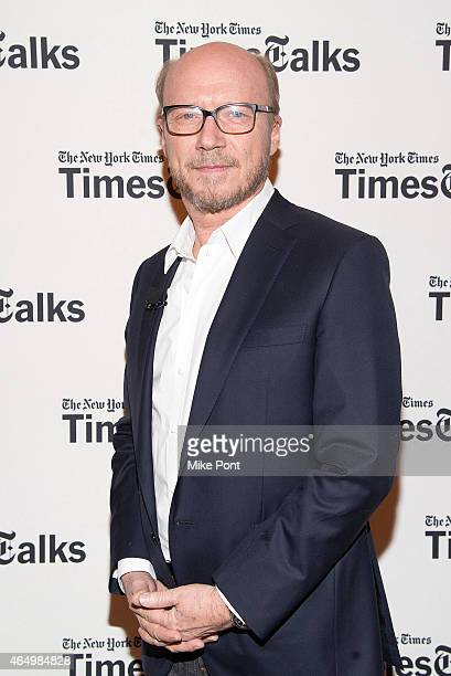 Screenwriter Paul Haggis attends TimesTalks Presents An Evening With 'Going Clear Scientology and the Prison of Belief' at The Times Center on March...