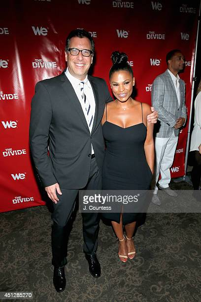 Screenwriter Richard LaGravenese and Nia Long attend 'The Divide' series premiere at Dolby 88 Theater on June 26 2014 in New York City