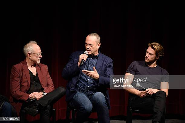Screenwriter Robert Schenkkan Vince Vaughn and Actor Luke Bracey attends The Academy of Motion Picture Arts and Sciences Official Academy Screening...