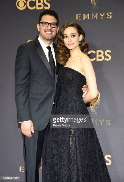 Screenwriter Sam Esmail and actor Emmy Rossum attend the 69th Annual Primetime Emmy Awards at Microsoft Theater on September 17 2017 in Los Angeles...