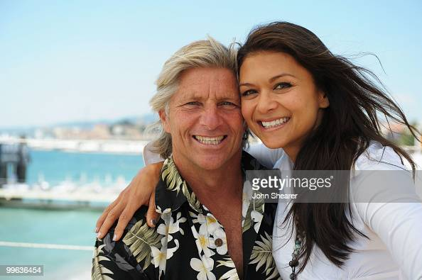 Screenwriter Sam George and Nia Peeples attend the 'Hollywood Don't Surf' Portraits during the 63rd Annual Cannes Film Festival on May 17 2010 in...
