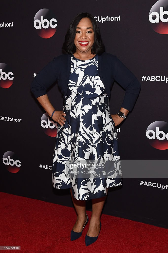 Screenwriter Shonda Rhimes attends the 2015 ABC Upfront at Avery Fisher Hall Lincoln Center on May 12 2015 in New York City