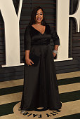 Screenwriter Shonda Rhimes attends the 2015 Vanity Fair Oscar Party hosted by Graydon Carter at Wallis Annenberg Center for the Performing Arts on...