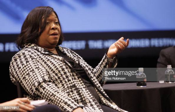 Screenwriter Shonda Rhimes attends The New Yorker Festival 2013 Television And Politics With W Kamau Bell Armando Ianucci Michelle King And Shonda...