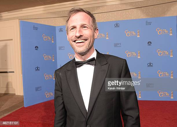 Screenwriter Spike Jonze winner of the Best Screenplay Award for 'Her' poses in the press room during the 71st Annual Golden Globe Awards held at The...