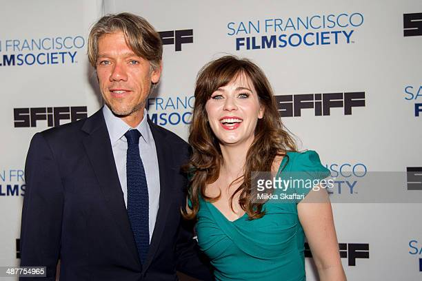 Screenwriter Stephen Gaghan and actress Zooey Deschanel arrive at Film Society Award Night at San Francisco International Film Festival on May 1 2014...
