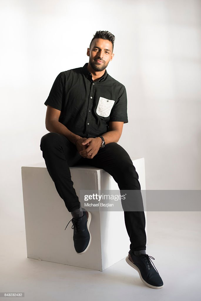 Screenwriter Sunny Tripathy poses for portrait at The Starving Artists Project on June 26, 2016 in Los Angeles, California.