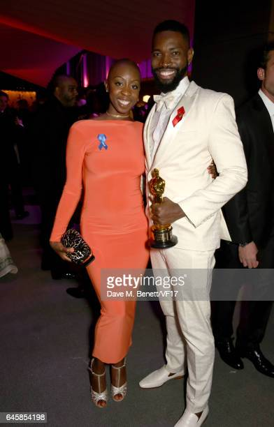 Screenwriter Tarell Alvin McCraney attends the 2017 Vanity Fair Oscar Party hosted by Graydon Carter at Wallis Annenberg Center for the Performing...