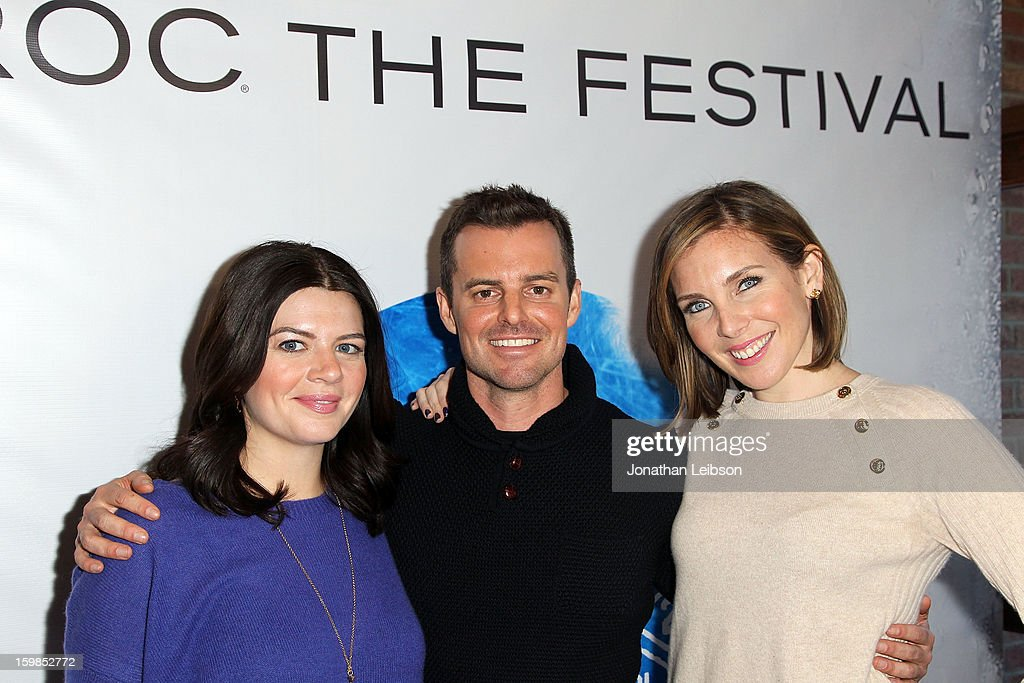 Screenwriter/actress Casey Wilson director Chris Nelson and actress June Diane Raphael attend Day 3 of the Variety Studio At 2013 Sundance Film...