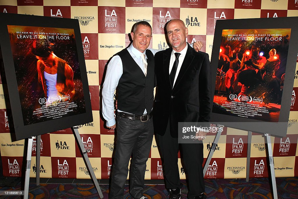 Screenwriter/lyricist Glenn Gaylord and director Sheldon Larry attend the 'Leave It On The Floor' Q & A during the 2011 Los Angeles Film Festival held at the Regal Cinemas L.A. LIVE on June 18, 2011 in Los Angeles, California.