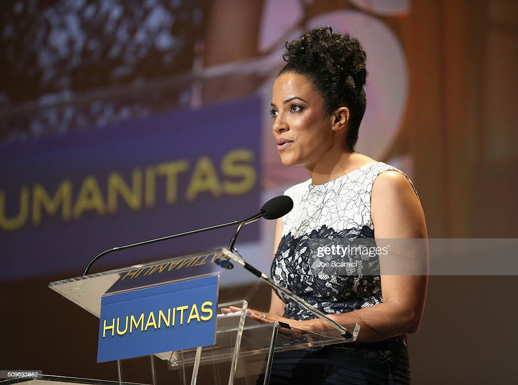 Screenwriter/Producer Janine Sherman Barrois speaks onstage during the 41st Humanitas Prize Awards Ceremony at Directors Guild Of America on February 11, 2016 in Los Angeles, California.
