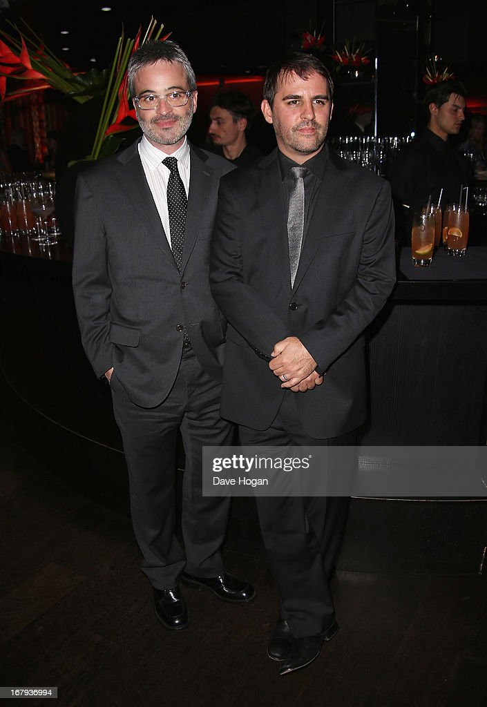 Screenwriters Alex Kurtzman and Roberto Orci attend the 'Star Trek Into Darkness' After Party at Aqua on May 2, 2013 in London, England.