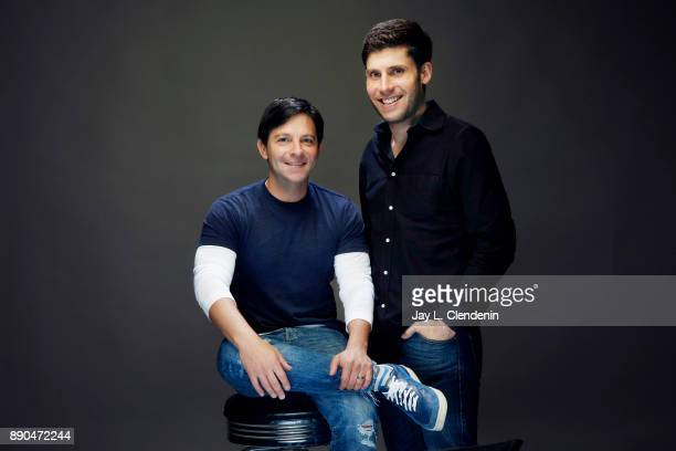 Screenwriters for the film 'The Disaster Artist' Scott Neustadter and Michael Weber are photographed for Los Angeles Times on November 6 2017 in Los...